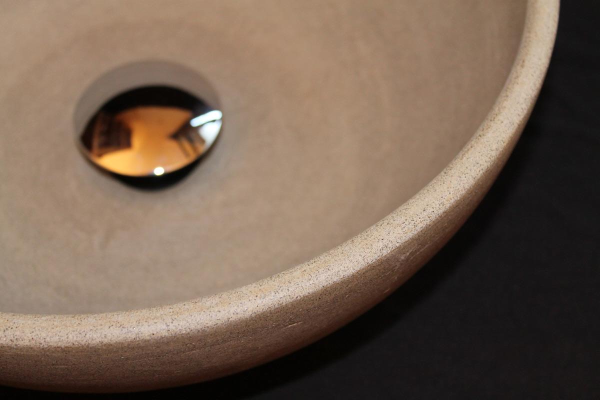 Stoneware Unglazed Grey Stoneware Basin Detail