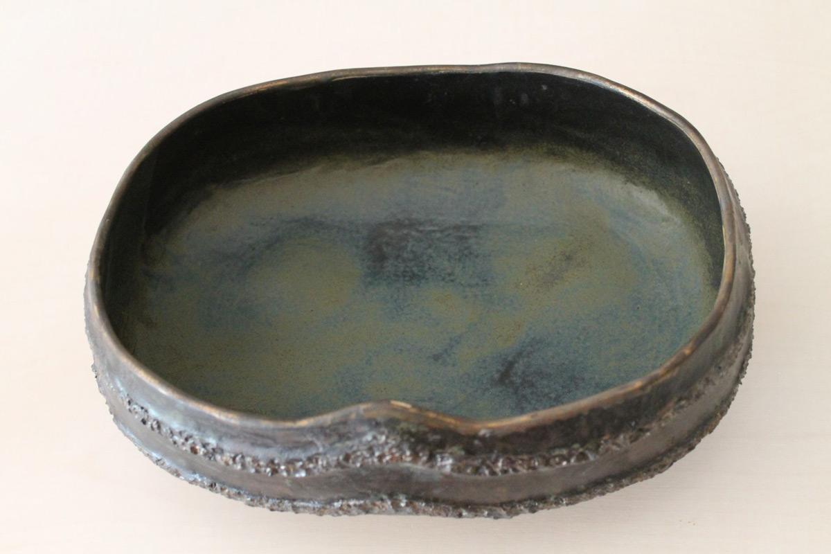 Stoneware Ikebana Bowl