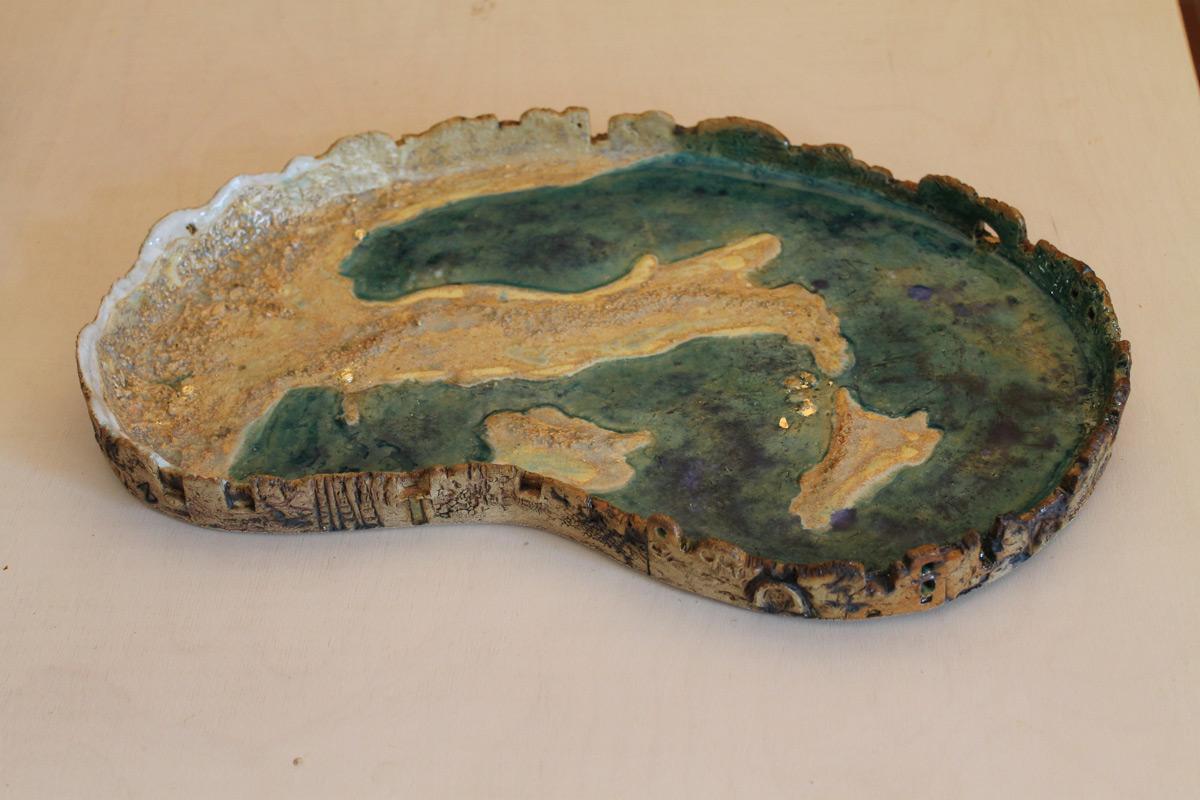 Stoneware Plate 'Italia Nostra'