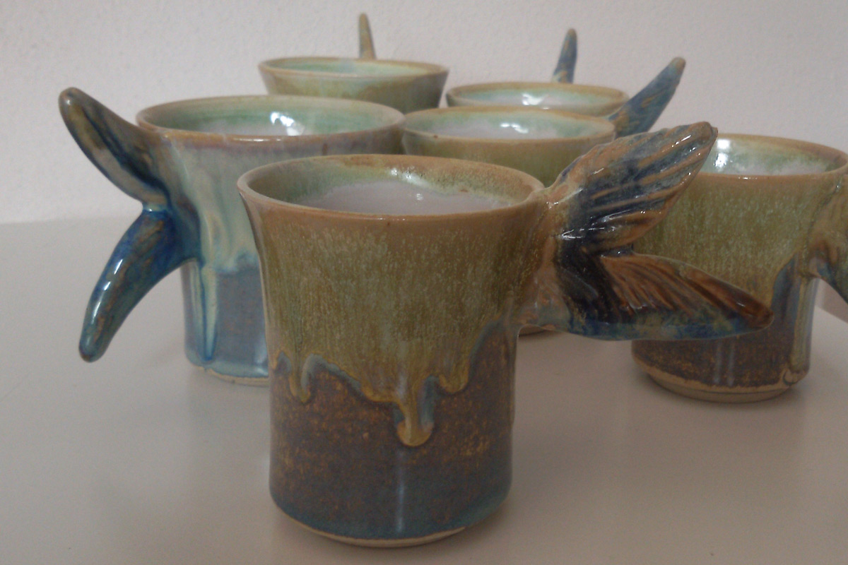 Stoneware Fish Tail Cups
