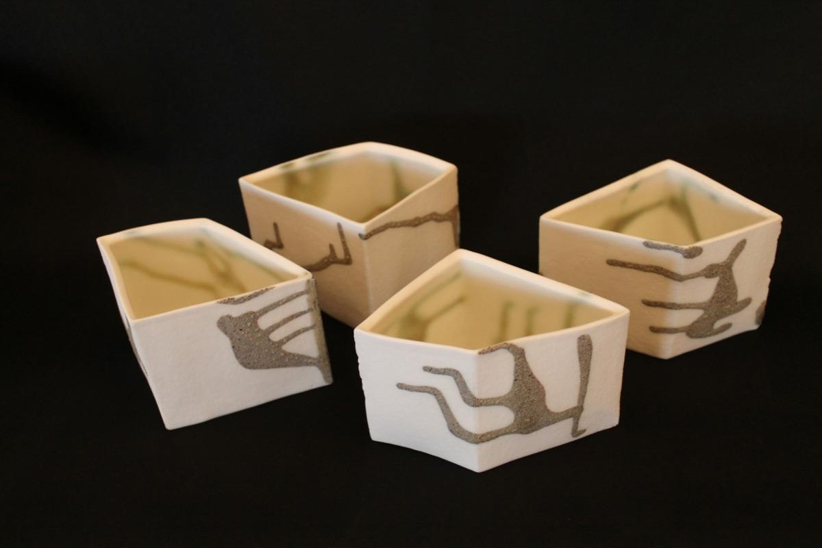 Porcelain Small Geometric Vessels