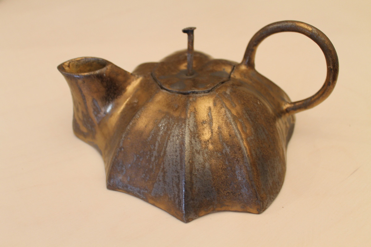 Stoneware Bronzeglazed Teapot Stella